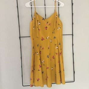 Brand New Old Navy Yellow Floral Skater Dress